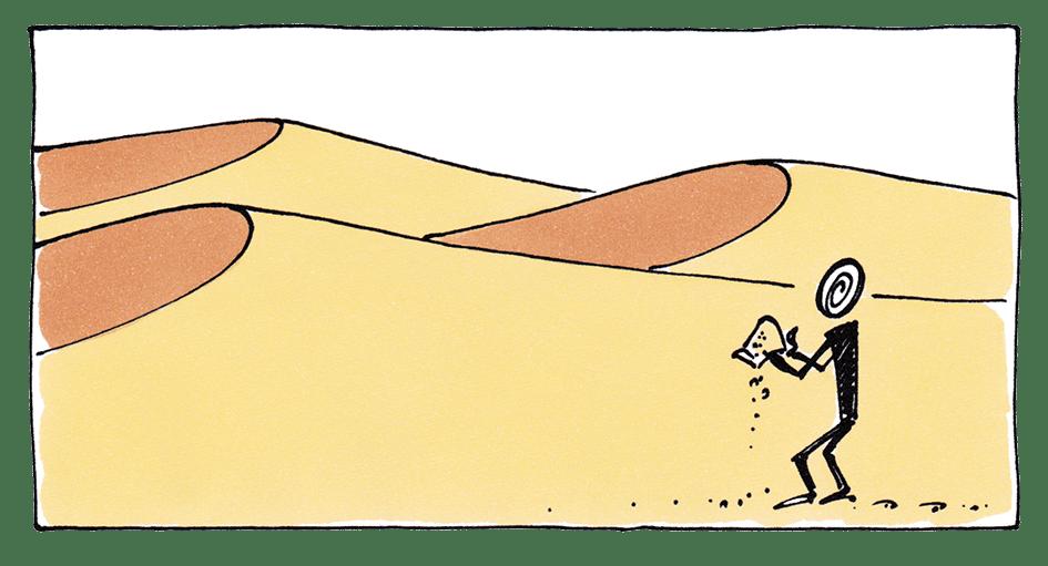 Wissensmanagement aussichtslos - Wüste