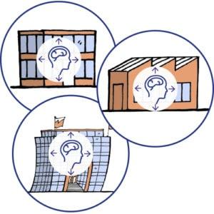 Symbolbild Wissenmanagement wissen in verschiedenen Unternehmensformen