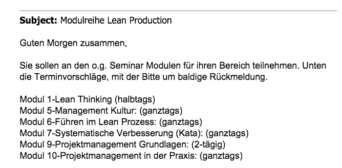 Lean Produktion Irrweg