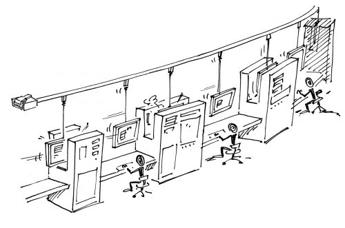 Mit ERP-Systemen wie SAP können Angestellte zu Fließbandarbeitern gemacht werden, die Bildschirmmasken ausfüllen. Dann ist der Schritt, diese Arbeit auch auszulagern, nicht mehr groß. Das gilt auch für Personalarbeit.