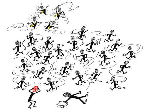 """Druckkultur – Weder Freude noch Erfolg. Wer ausfällt, hat einfach die """"falsche"""" Einstellung zum Unternehmen."""