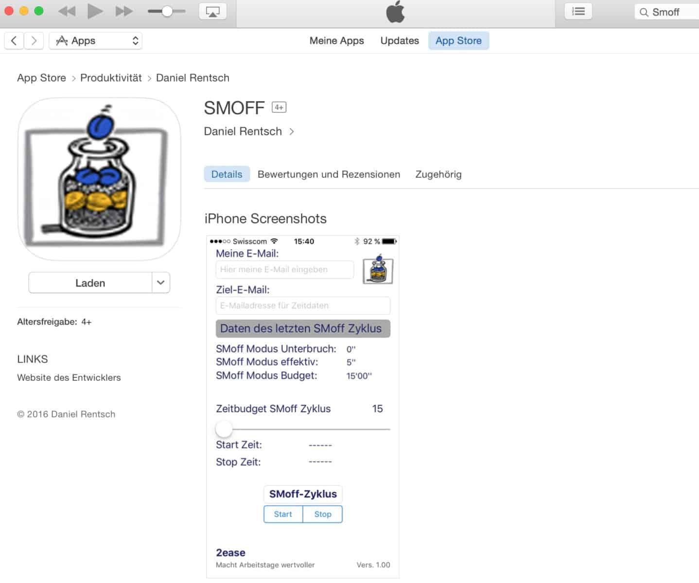Smoff App In Itunes Selbstmanagement Führung 21