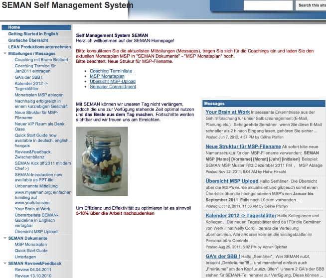 2ease selbstmanagement intranet kultur