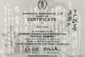 2ease kaizen workshop certificate