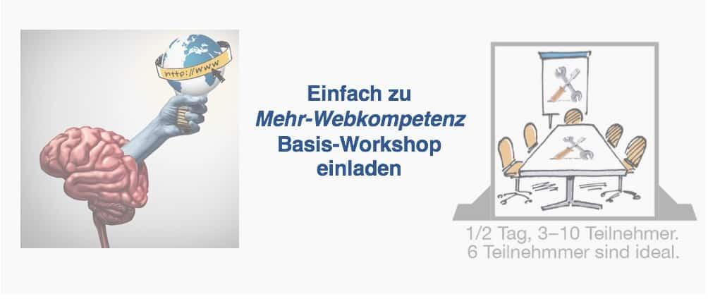 Einladung Webkompetenz - Website-Relanch Workshop