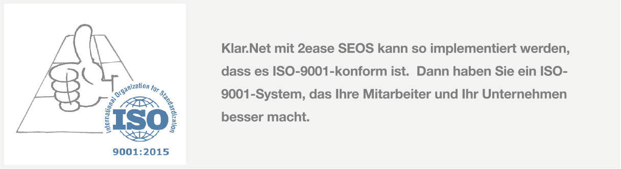iso 9001 2ease seos management system