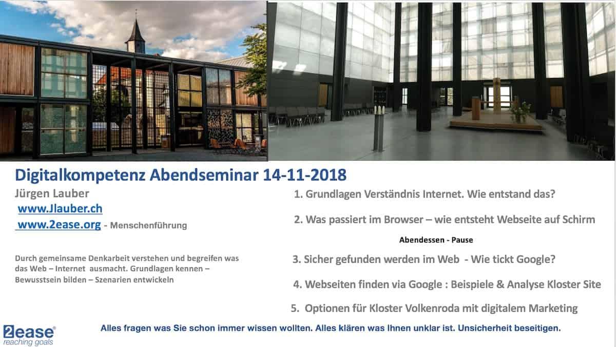 Digitalkompetenz Seminar Kloster Programm 118