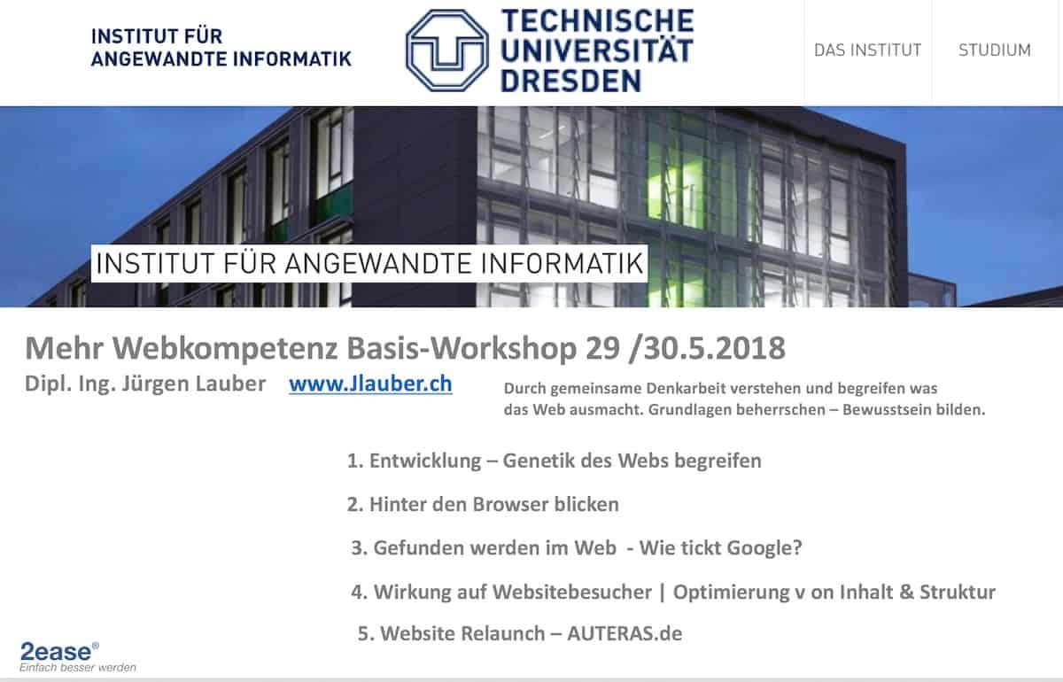 Workshop Uni Dresden Webkompetenz Mai 2018