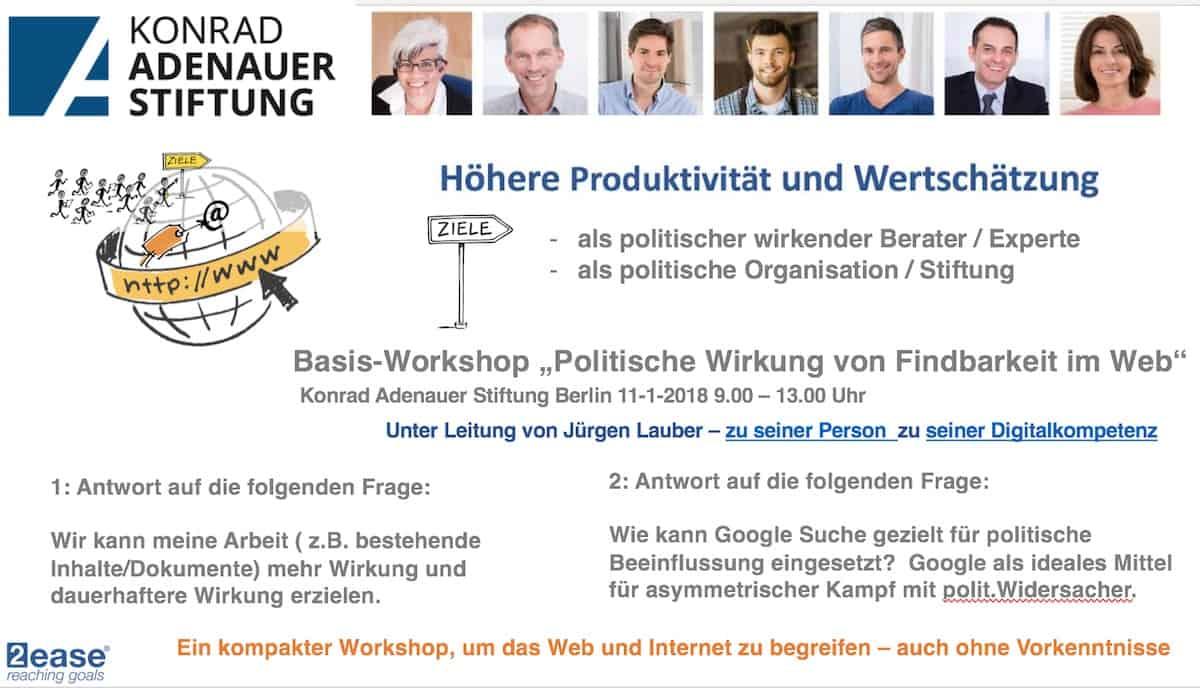 KAS digitalkompetenz Seminar Berlin januar 2019 Ziele
