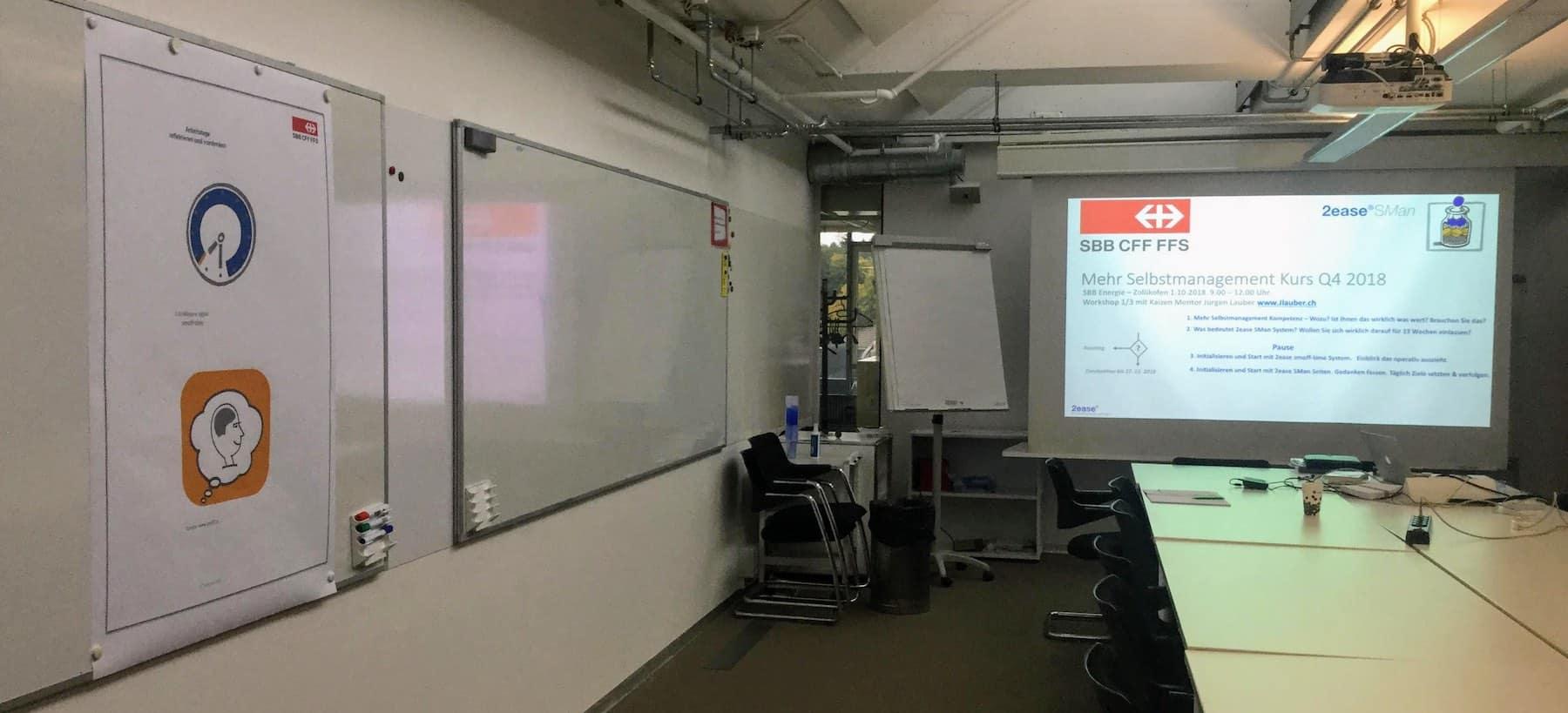 SBB Energie Selbstmanagement Workshop 1 Saal