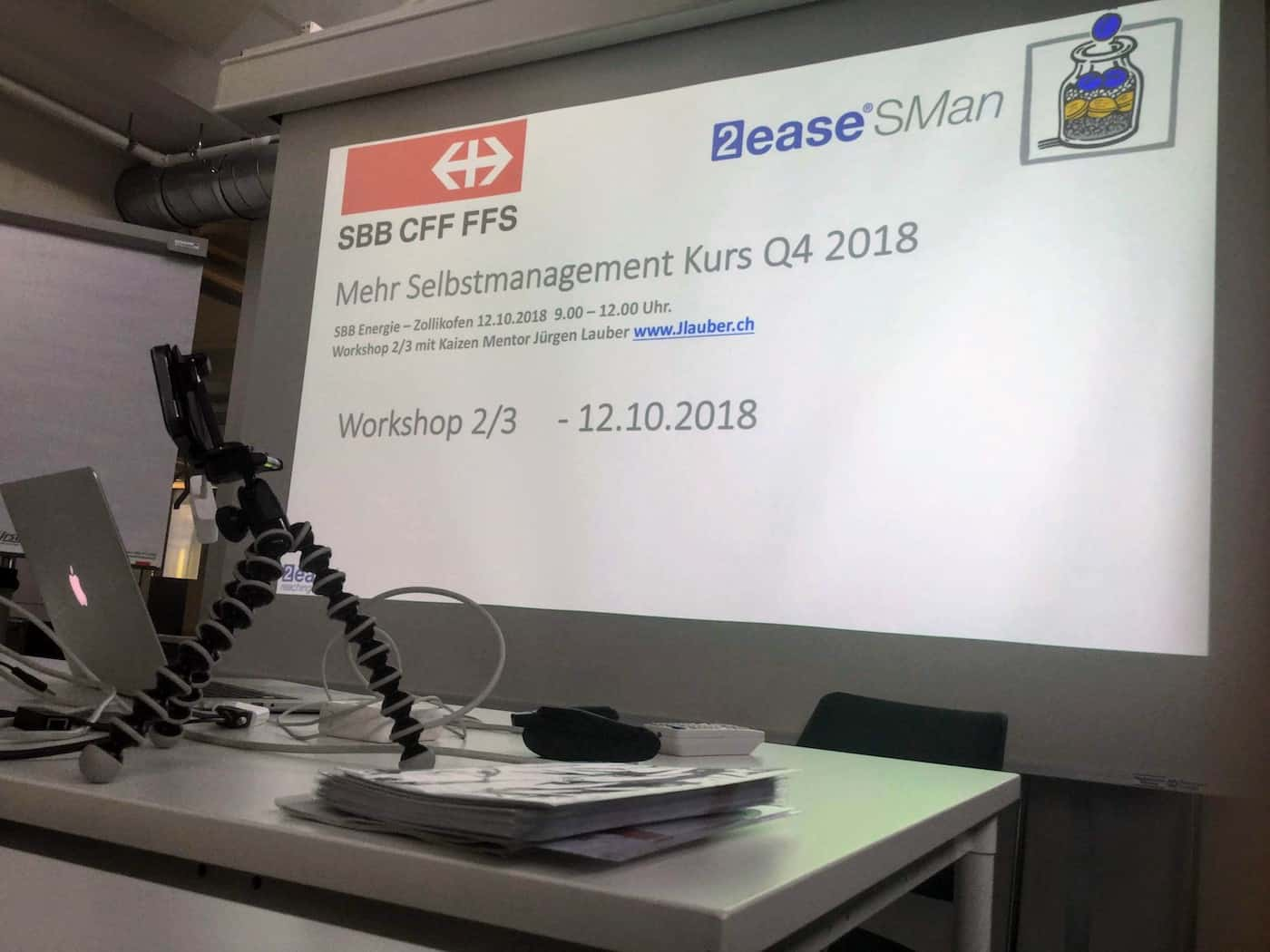 SBB Energie Selbstmanagement Workshop 2 November 2018