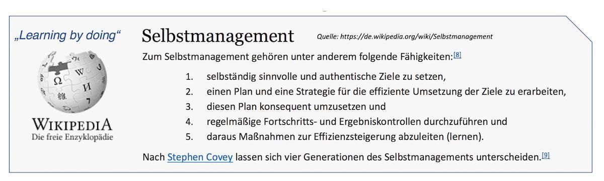 Selbstmanagement Doing Kurse