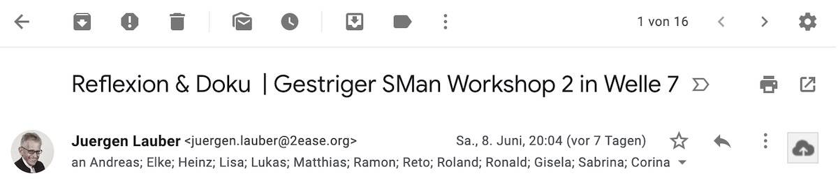 Sman Selbstmanagement Workshop 2 7-6-2019 Review Mail Welle 7