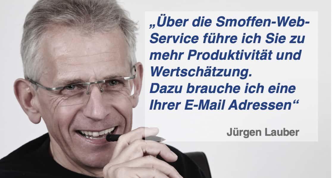 E-Mail Adresse Anvertrauen Smoffen-App 0719